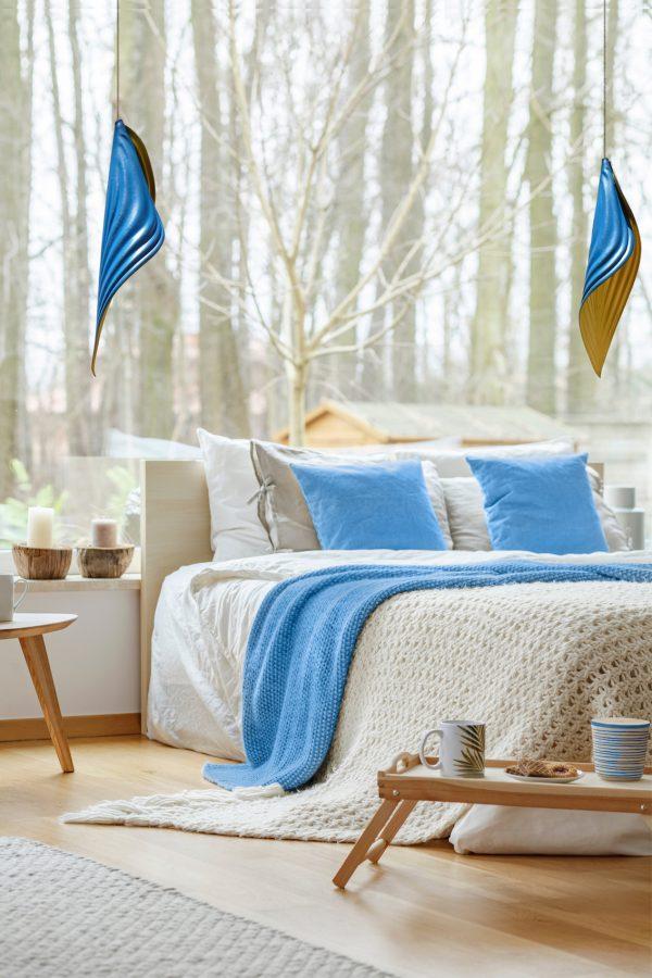 Minimal bedroom interior of house